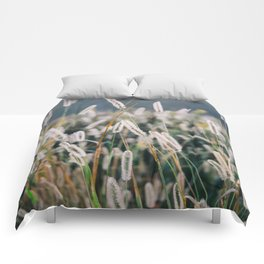Whimsical Tall Grass Nature Field Landscape Photo Comforters