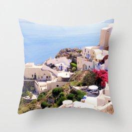 Santorini Charm Throw Pillow