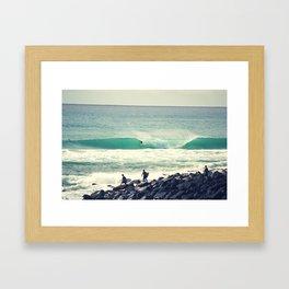 Morning Barrel Framed Art Print