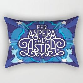 Through Hardship To The Stars Rectangular Pillow