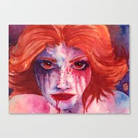 blood Canvas Prints featuring Blood by Diego Munhoz