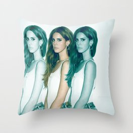 Lana - Blue Jeans, White Shirt Throw Pillow