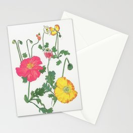 poppies 2 Stationery Cards