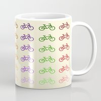bicycles Mugs featuring Bicycles by George Hatzis