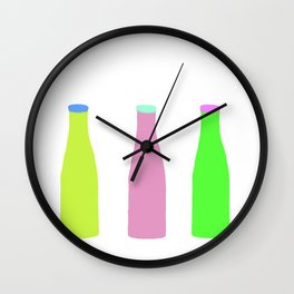 beer bottles Wall Clock