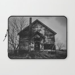 School's Out - Abandoned Schoolhouse in Iowa in Black and White Laptop Sleeve