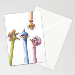 Paper Jam Ostriches by Jane Nguyen Stationery Cards