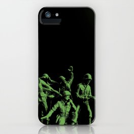 Plastic Army Man Battalion Black and Green iPhone Case