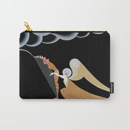"Art Deco Design ""The Angel"" by Erté Carry-All Pouch"
