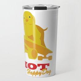 DSA - Hot Happy Dog Travel Mug