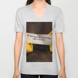 Fortune Cookie - Fruit from the Tall Trees Unisex V-Neck