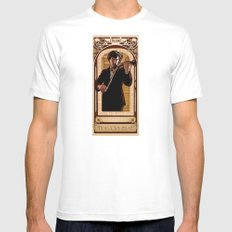 Art Nouveau: The Violinist MEDIUM Mens Fitted Tee White
