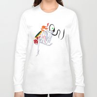 okami Long Sleeve T-shirts featuring VIDEO GIRLS: Okami by Marques Cannon