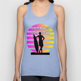 Beach Bound Surfer Surfboard Unisex Tank Top