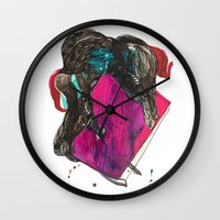 it crowd Wall Clocks featuring crowd by Zane Veldre