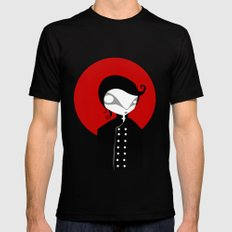 Alone SMALL Mens Fitted Tee Black