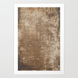 Cement Weathered Brown Abstract Photograph Art Print