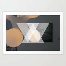 Abstract triangle photography  Art Print