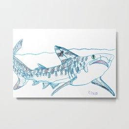 Tiger Shark II Metal Print