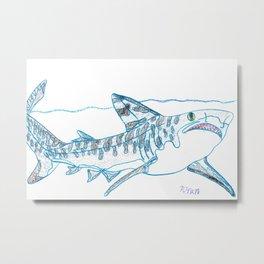 Tiger Shark II Metal Print