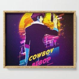 cowboy bebop retro Serving Tray