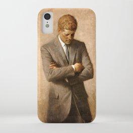 JFK - John F Kennedy Official Portrait by Aaron Shikler iPhone Case