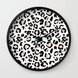 Leopard Animal Print Watercolour Painting Wall Clock