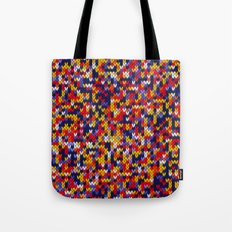 Knitted multicolor pattern 1 Tote Bag