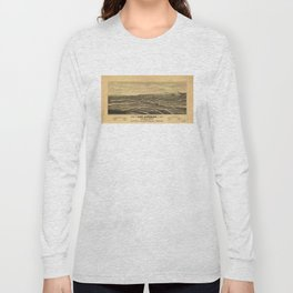 Aerial View of Los Angeles, California (1877) Long Sleeve T-shirt