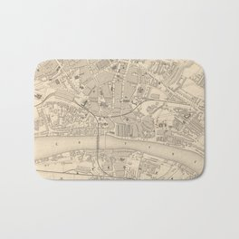 Vintage Map of Newcastle England (1851) Bath Mat