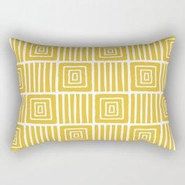 Retro Mid Century Modern Check Pattern 740 Mustard Yellow Rectangular Pillow