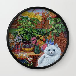 """""""Master of Cat College"""" by Louis Wain Wall Clock"""