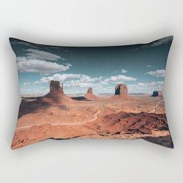 monument valley landscape Rectangular Pillow