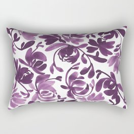 Purple Peonies and Poppies Rectangular Pillow