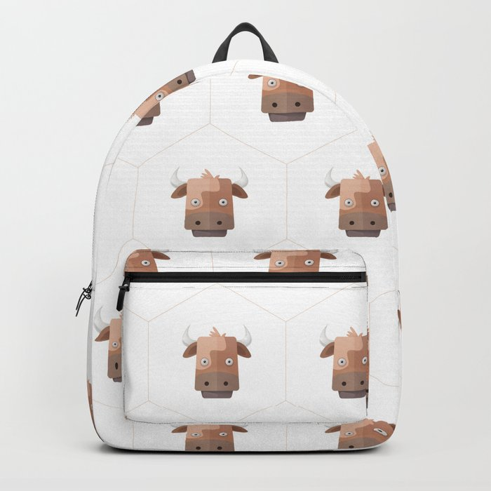 Hexagon's Cow design Backpack