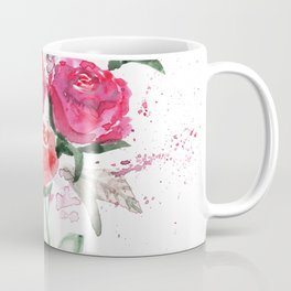 Abstract Watercolor Red Roses Coffee Mug