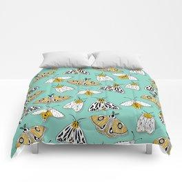 MAGIC MOTHS on Turquoise Comforters