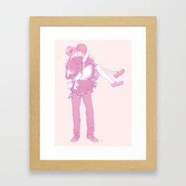 Maid Kiss Framed Art Print