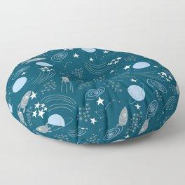 Space blu Floor Pillow