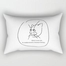 To understand a human being Rectangular Pillow