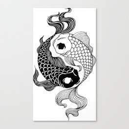 Yin Yang Tents Canvas Print