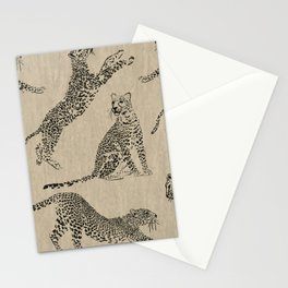 tan leopard pattern Stationery Cards