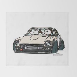 Crazy Car Art 0155 Throw Blanket