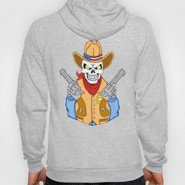 Western Cowboy Skull Hoody