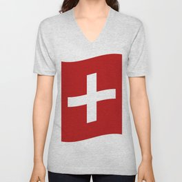 Swiss flag Unisex V-Neck