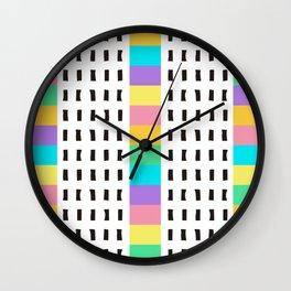 Rainbow Lines 2 Wall Clock