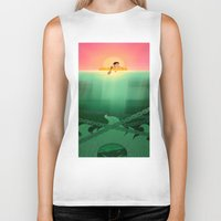 jaws Biker Tanks featuring JAWS by hyasinths
