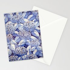 Floral tiles Stationery Cards