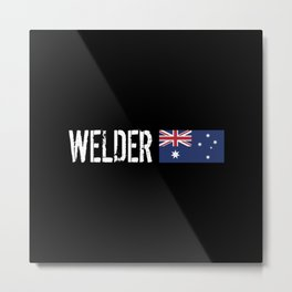Welder: Australian Flag Metal Print