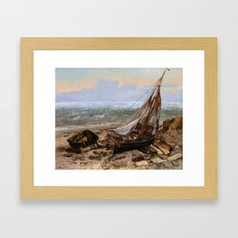 The Fishing Boat by Gustave Courbet , 1865 Framed Art Print